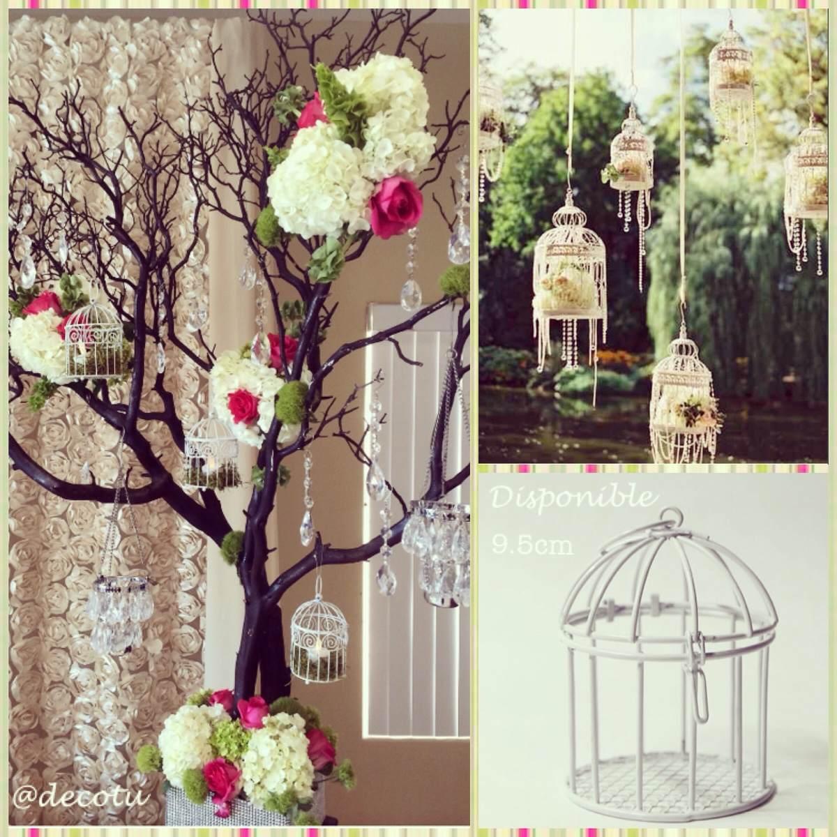 Jaula recuerdo decoraci n boda bautizo baby s vintage - Decoracion boda vintage ...