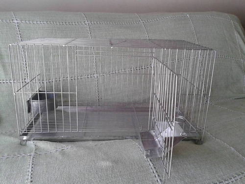jaulas conejos con comedero, bebedero y bandeja