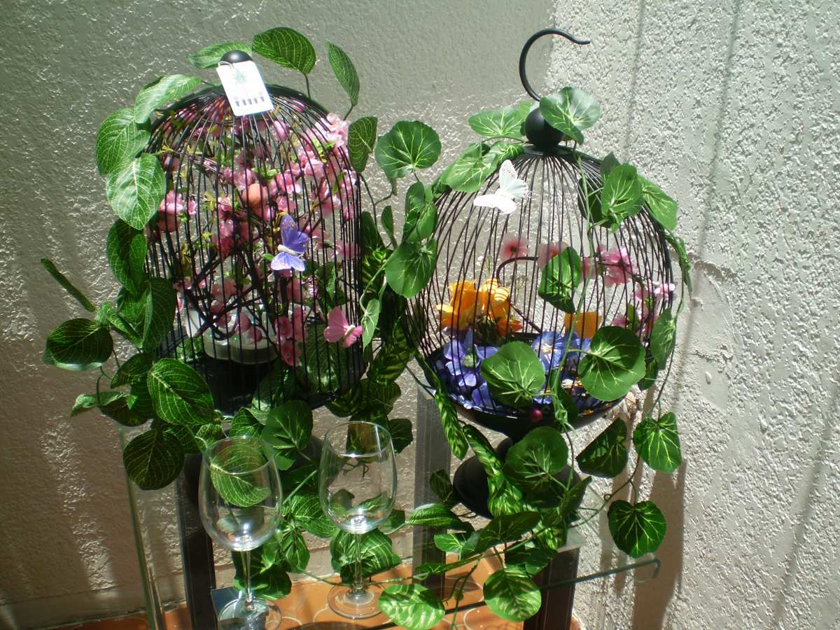 Jaulas decorativos para recuerdos 1 en mercado for Articulos decorativos para jardin