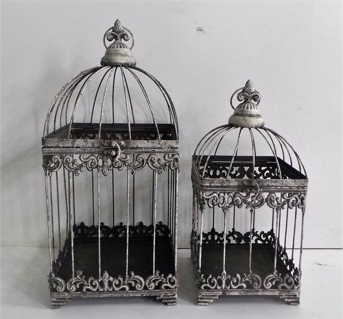 jaulas rusticas para velas set x 2- envio incluido!