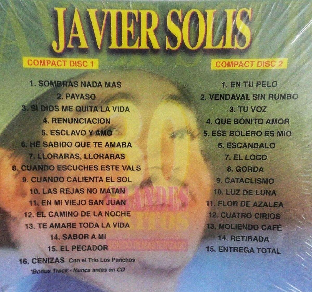 Javier Solís - 30 Grandes Éxitos (2 Cd) Nuevo, Original - $ 39.900 en  Mercado Libre