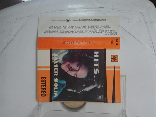 javier solis hits ctte 95 cbs cassette 1974