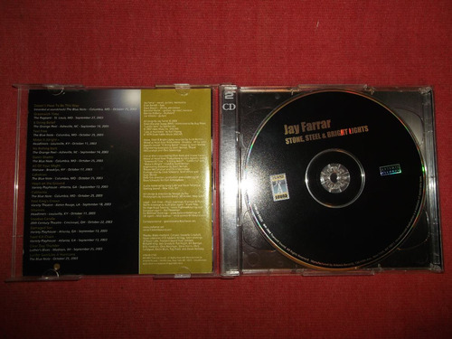 jay farrar - stone steel & bright cd doble usa ed 2004 mdisk