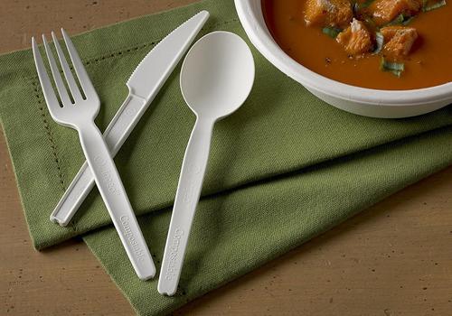 jaya 100% compostable 6.5  heavy duty cubiertos, tenedor, 10