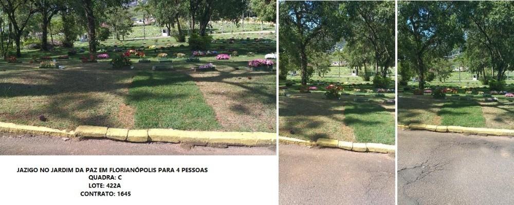 jazigo duplo no cemitério jardim da paz em florianópolis/sc