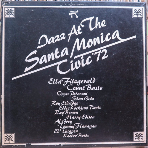 jazz at the santa monica civic  - caixa box 3 discos encarte