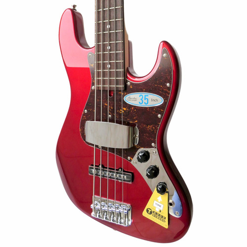 jazz bass 5 bacchus wl-535/r rojo global series