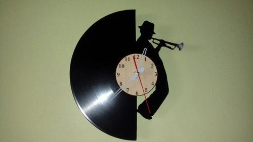 jazz disco de vinilo reloj  arte decoracion