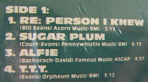 jazz inter, bill evans, person i knew, lp12´, hecho en u s a