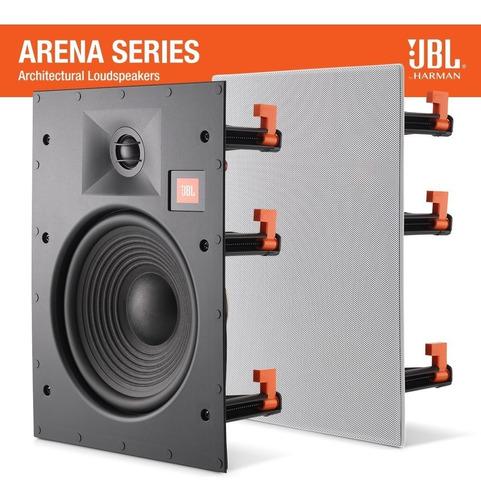 jbl arena 8iw - caixa embutir gesso 100w rev. oficial (par)