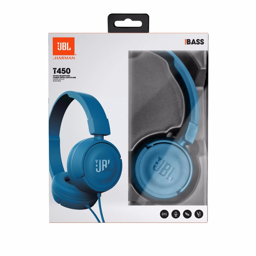 jbl audífonos manos libres t450 tipo diadema alámbrico