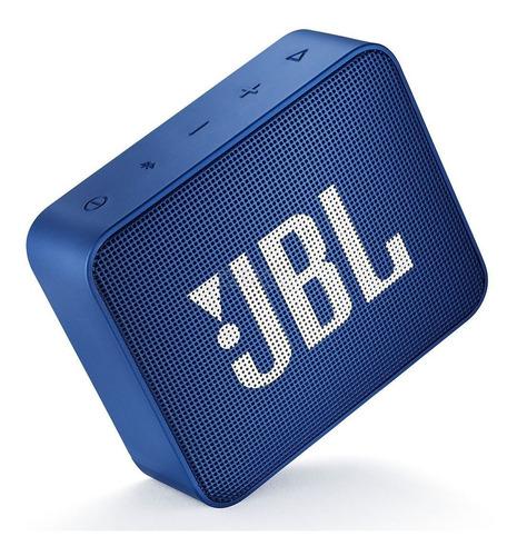 jbl go2 parlante portátil bluetooth inalámbrico azul