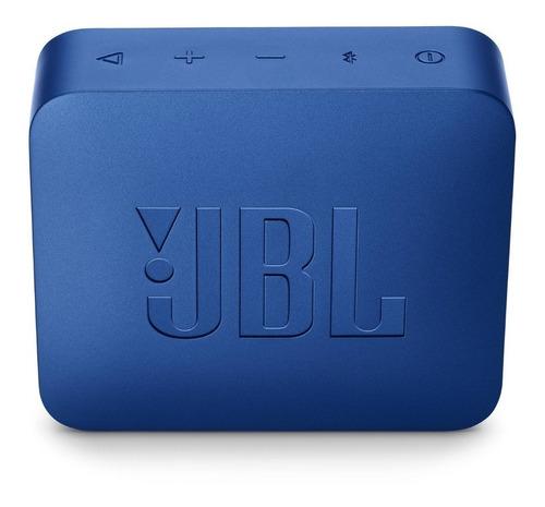 jbl go2 parlante recargable bluetooth waterproof - azul
