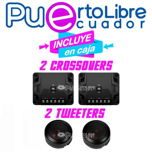 jbl parlantes componentes auto + tweeter + crossover + medio