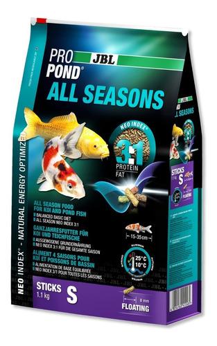 jbl propond all seasons s 4,3 kg ração para carpas lago 3em1