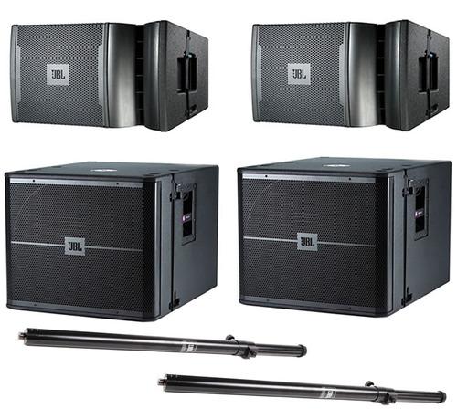 jbl vrx932la-1 (2)  vrx918s (2) y ss4bk (2) sistema sonido