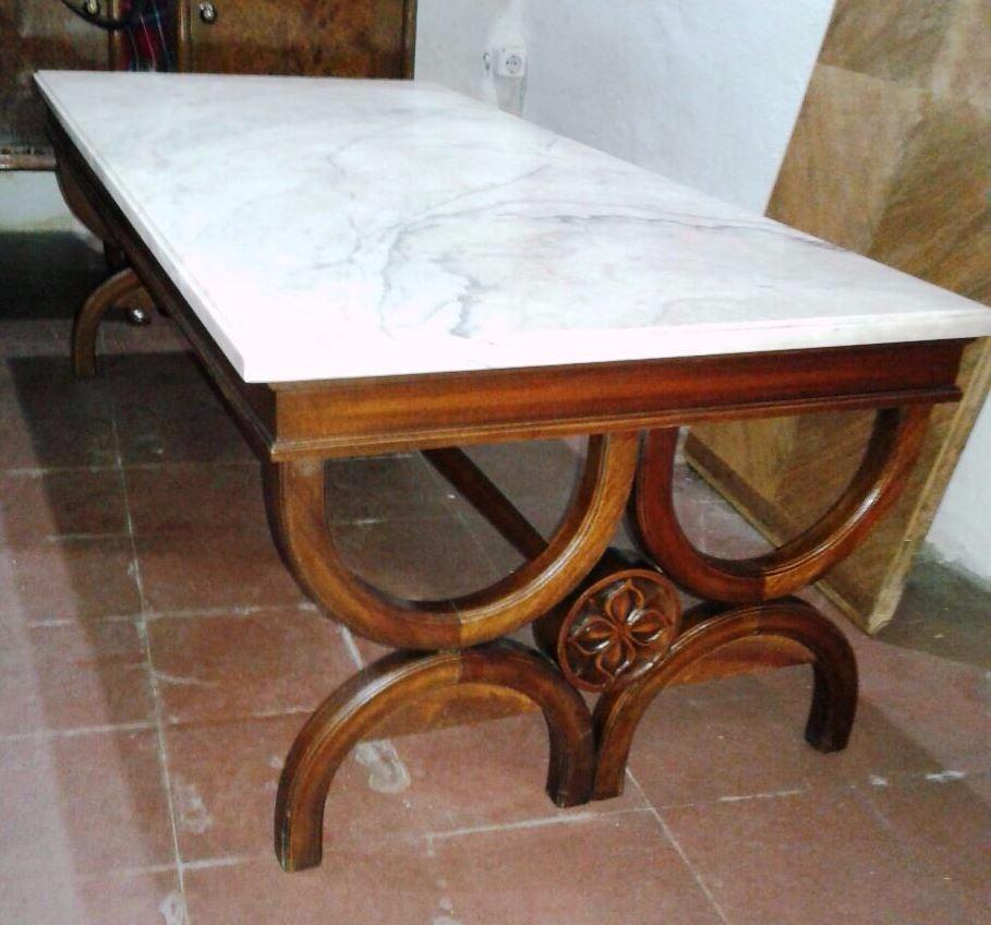 J.c  antigua mesa para sala living estilo romano con marmol ...