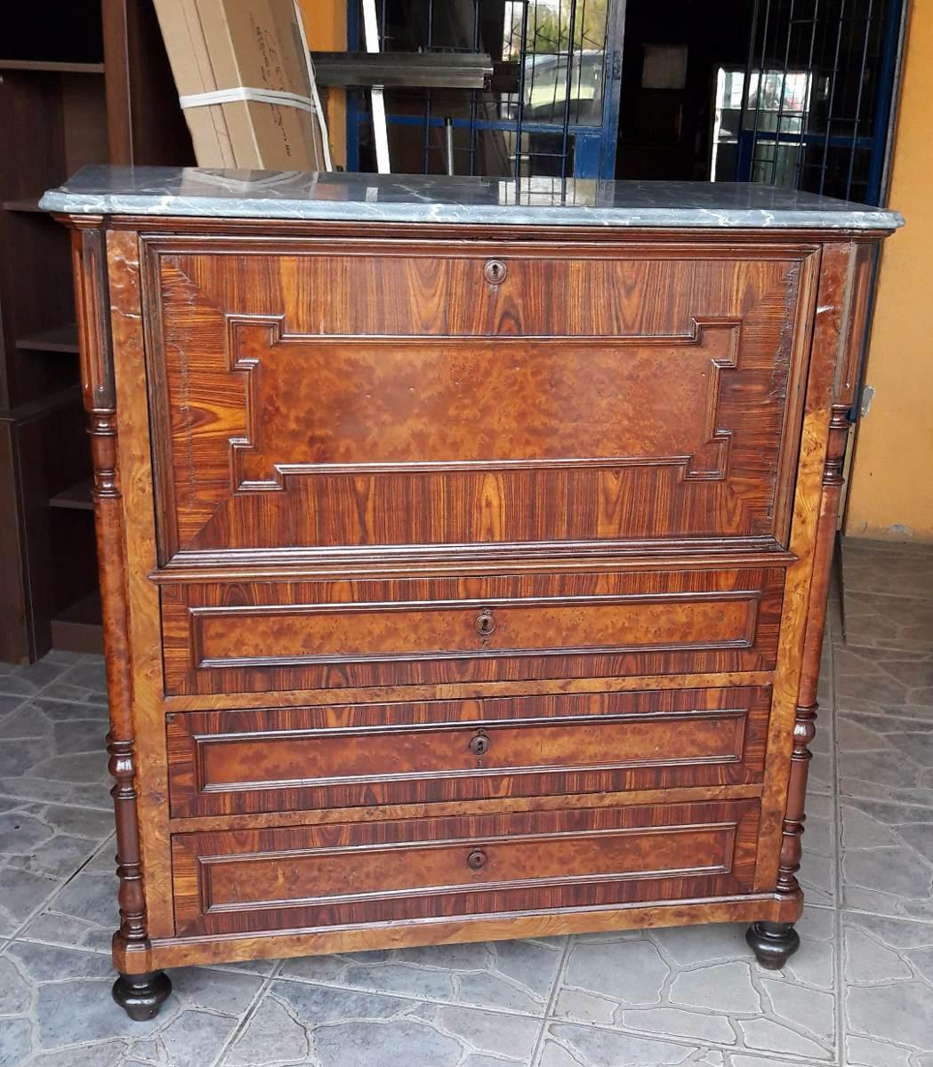 j c antiguo mueble secreter ingles puerta rebatible. Black Bedroom Furniture Sets. Home Design Ideas