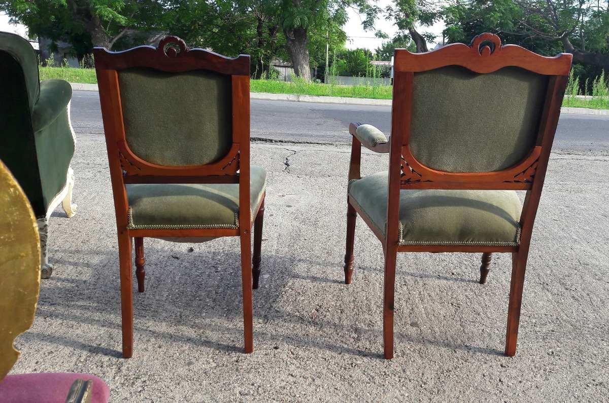 J c antiguo sillon y silla estilo ingles impecables - Sillas estilo ingles ...