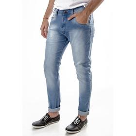 Jean - Azul Beraja -  Chupin Slim Fit Elastizado - El Capo
