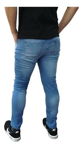 jean chupin azul marino hombre elastizado envio gratis!