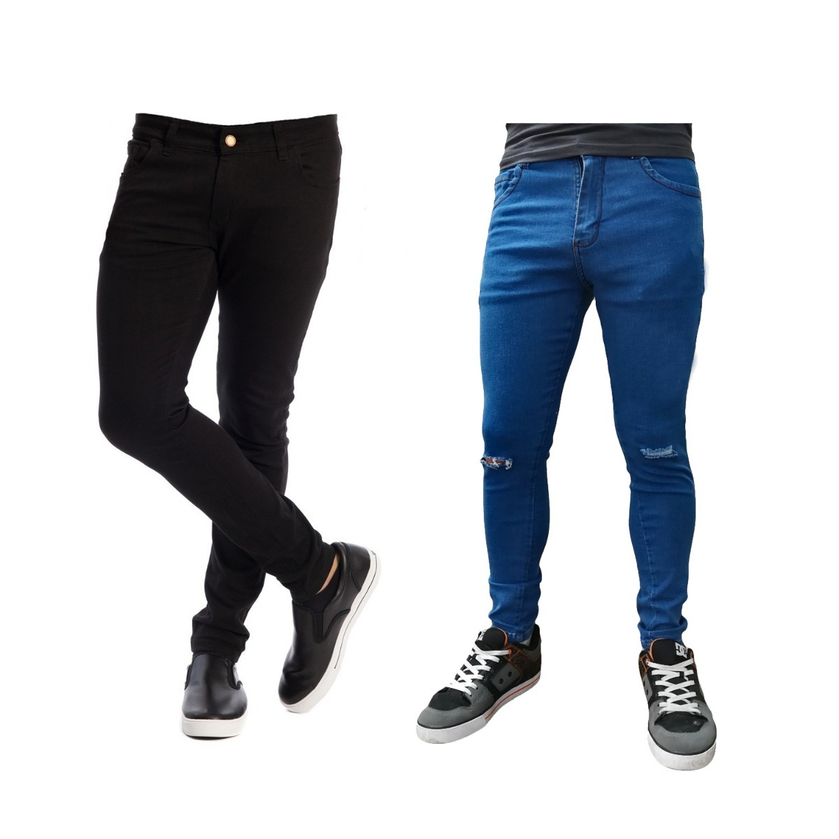 b467a5df95 Características. Marca Elropero01  Modelo negro azul roto  Género Hombre   Tipo de pantalón Jean ...