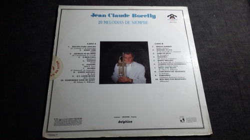 jean claude borelly 20 melodias lp vinilo trompeta jazz