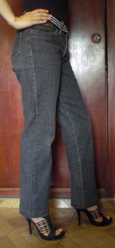 jean de dama color gris oscuro, marca marshal, talla 10