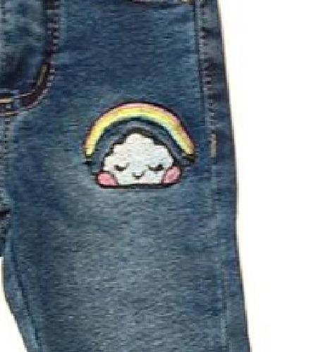 jean elastizado con arcoiris para beba/niña -ctn- moon