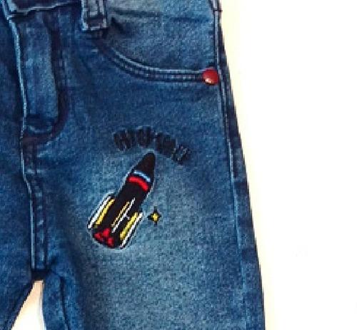 jean elastizado y bordado bebe-nene - 6meses-4años tommy
