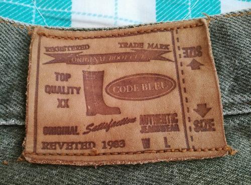 jean gris de caballero marca code bleu talla 34 remendado
