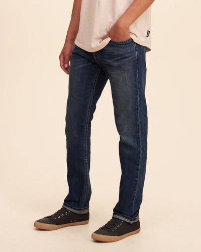 jean hollister pantalon slim straight jeans abercrombie