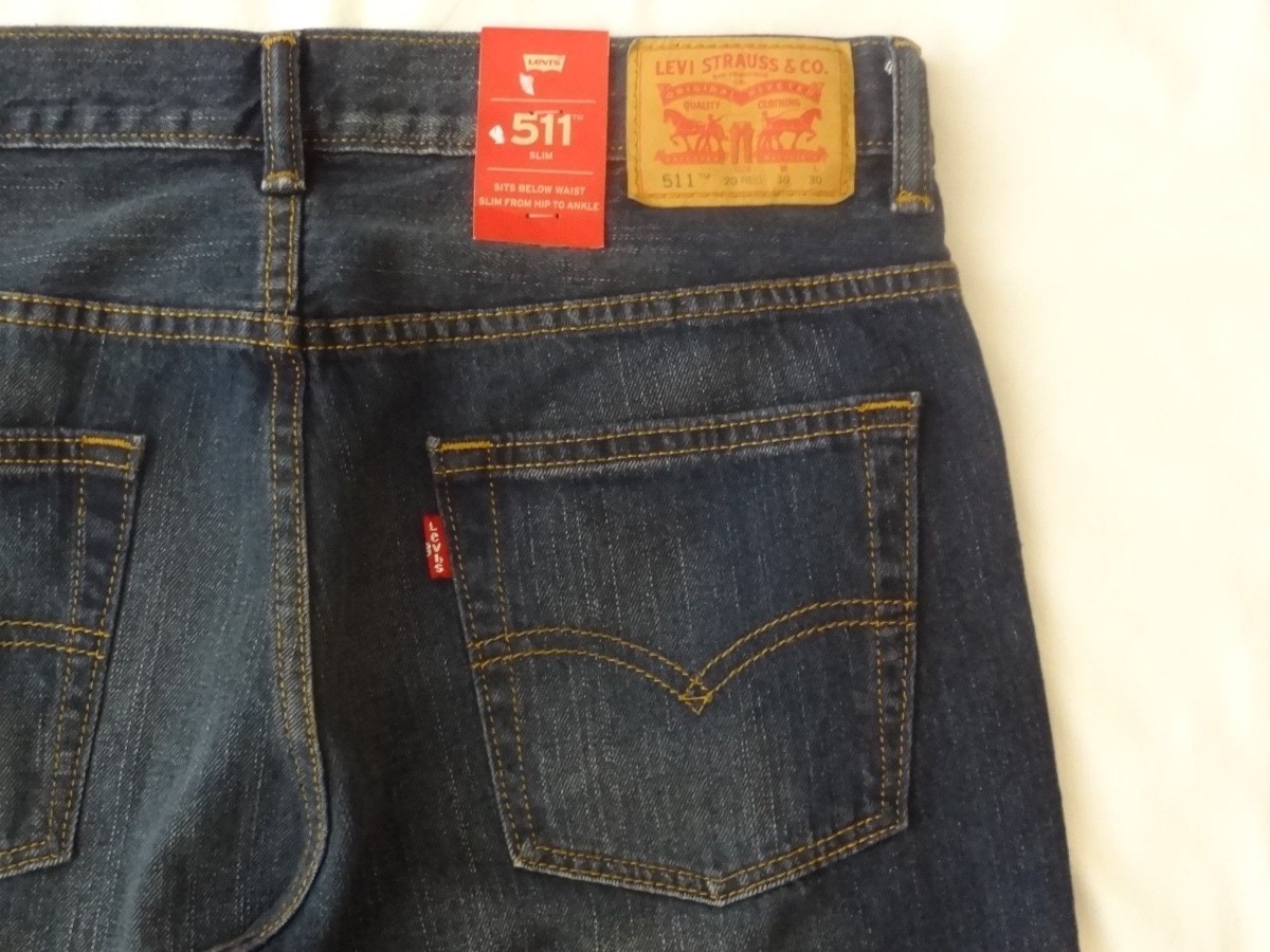 Jean Hombre Levi's 511 Slim Fit 30x30 Original Color Azul - $ 149.999 en Mercado Libre