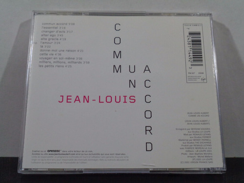 jean louis aubert - comme un accord - cd imp frança av8