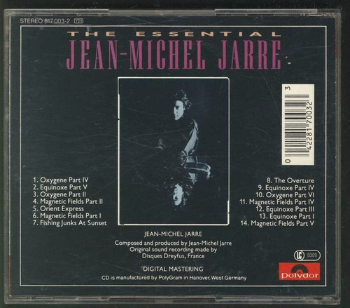 jean michel jarre the essential cd made in west germany 1983