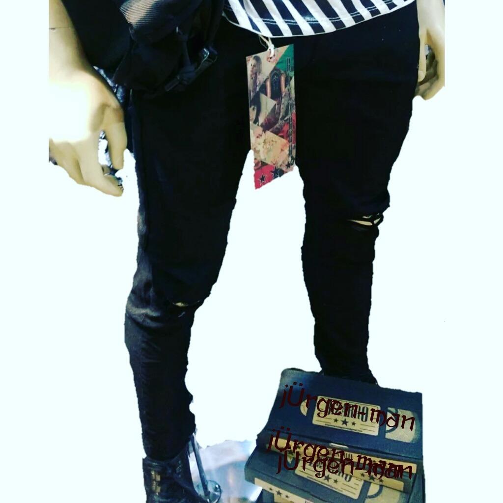 61649d331a Jean Negro Con Rotos Para Hombre Envio Gratis -   70.000 en Mercado ...