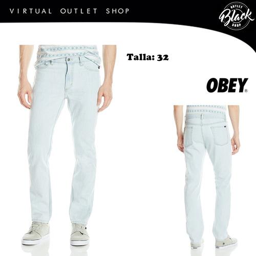 jean obey 32 pantalon original importado de usa
