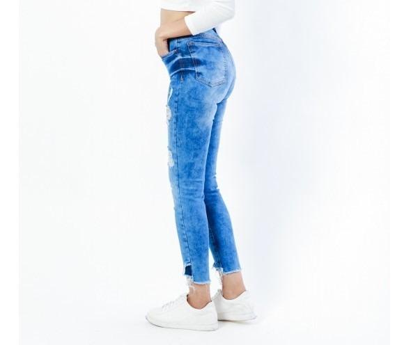 Jean Pantalon Mujer Chupin Roto Talle 36 Al 44 -   749 3e4cc809a968