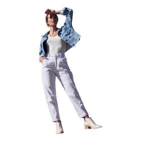 Jean Pantalon Mujer Slouchy Mom Tiro Alto Clasico