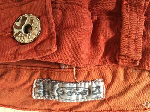 jean pantalon nena elastizado terracota talle 12