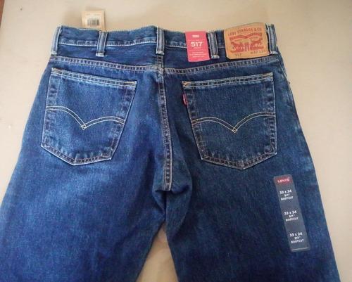 jean pantalon original levis 517 bootcut 33-34 nuevo usa