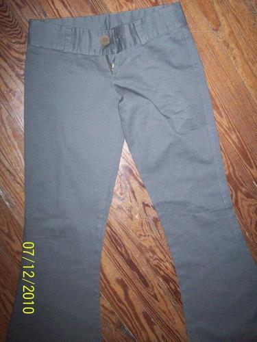 jean, pantalon primaveral, verde oscuro semi oxford