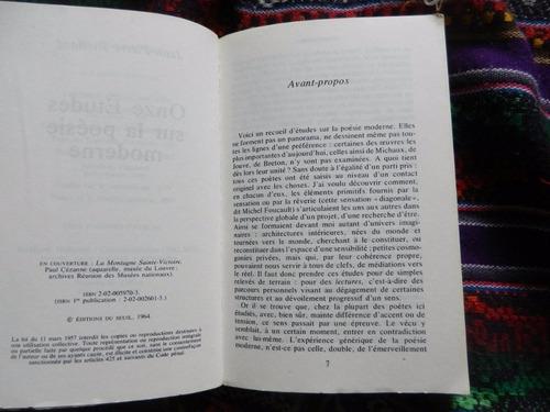 jean pierre richard onze études sur la poésie moderne
