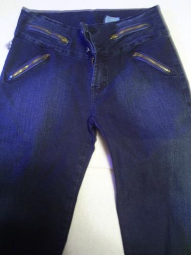 jean pitillo azul  nuevo talla 42 elasticado.modelo cierres