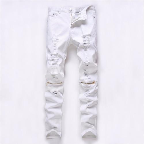 jean roto con cierres 2017 chupin elastizado