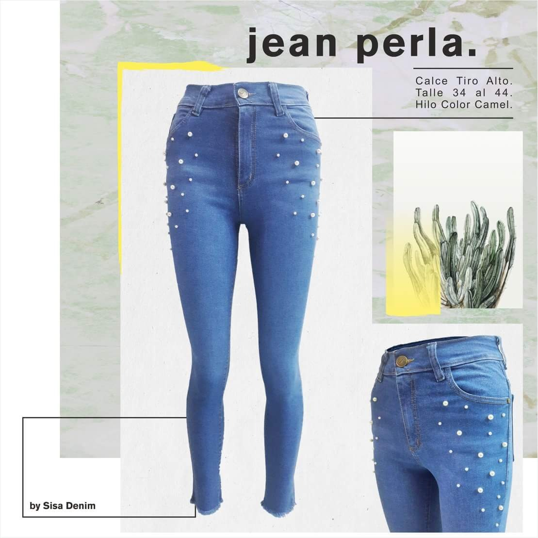 379f554513 Jean Sisa Denim Perla Invierno 2018 Mujer -   729