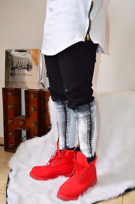 5182dc86d3 jean streetwear degradé swag roto cierres chupin. Cargando zoom.