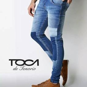 b6bb63b61c357 Jeans Con Parches En Las Rodillas Hombre - Ropa y Accesorios en ...