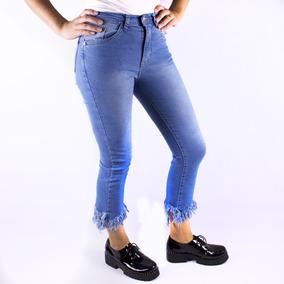 01af56cf87cc Jean Jeans Mujer Chupin Flecos Tiro Alto Elastizados Combina