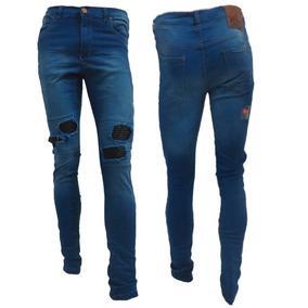 d811a6ab4c024 Jeans Con Parches En Las Rodillas Hombre - Jeans Chupin de Hombre en ...